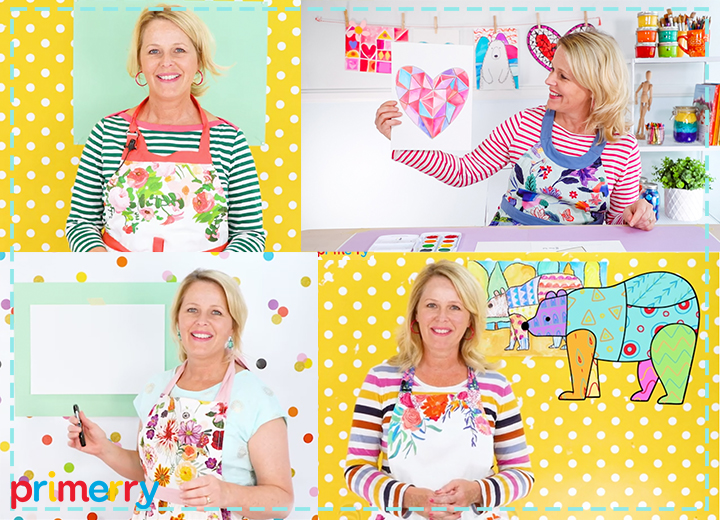 deep space sparkle patty palmer aprons and art lesson videos for kids primerry art episodes