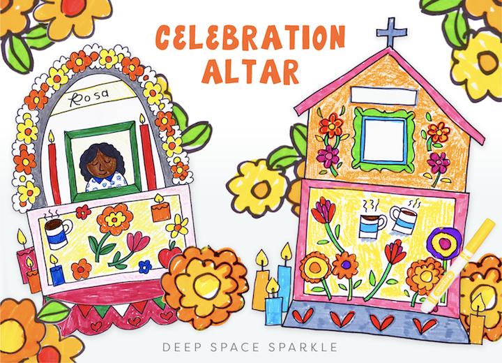 Cinco de Mayo Blog on cultural appreciation in the art room classroom celebration altar