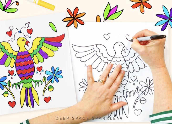 Cinco de Mayo Blog on cultural appreciation in the art room classroom folk art birds