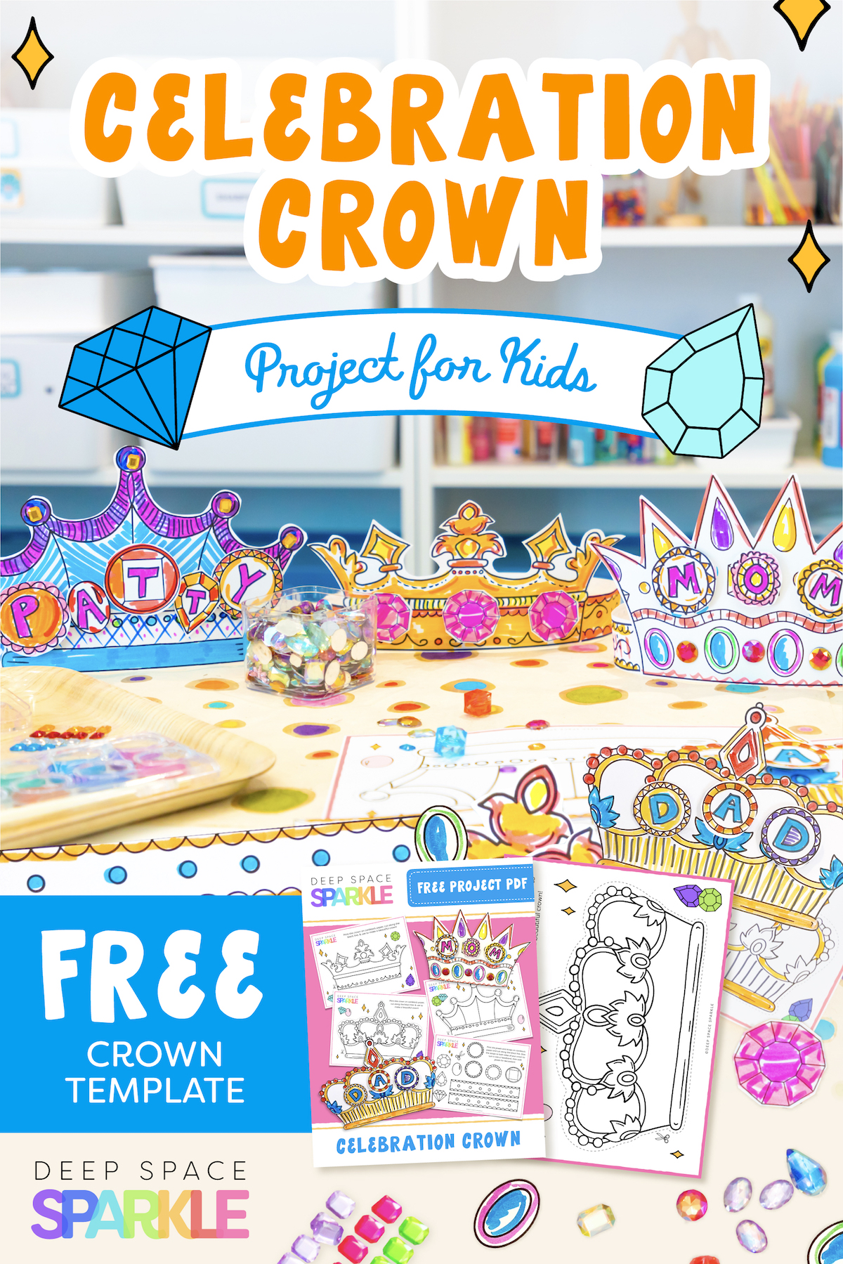 celebration day queen for a day art project for kids with miss patty and free download