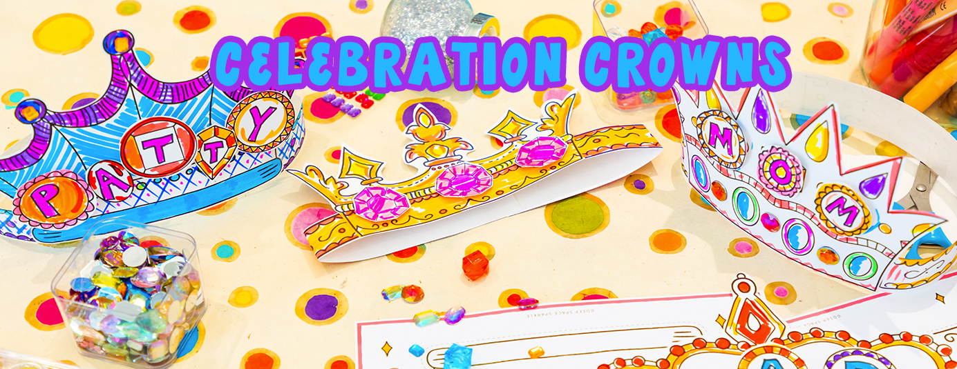 Celebration crown art lesson for mothers day with free download pdf guide