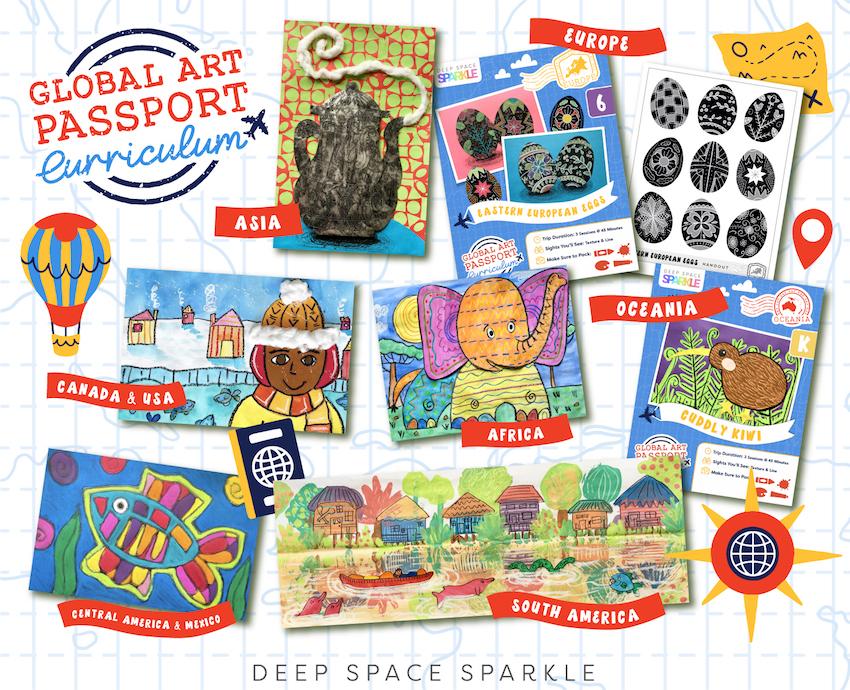 GAP Curriculum global passport art curriculum for art teachers in the classroom