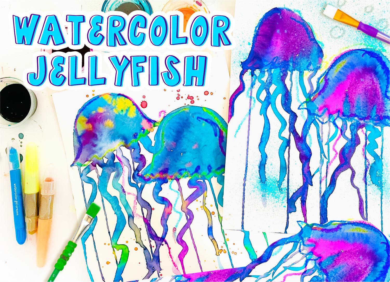 Watercolor Jellyfish Art Project