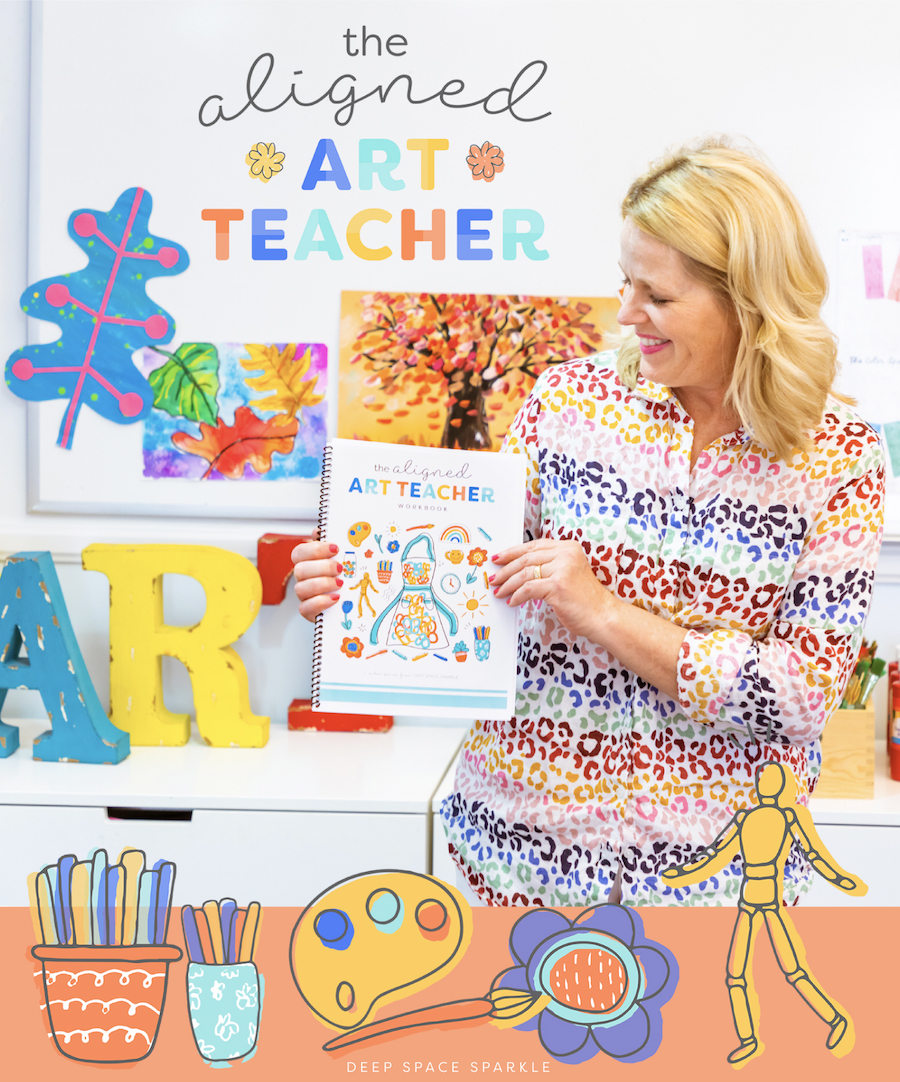 aligned art teacher manifesting your best year as an art teacher in the classroom with workbook download