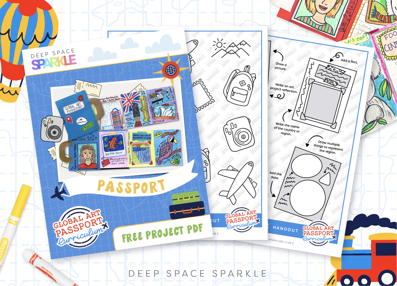 How to make a student passport Deep Space Sparkle