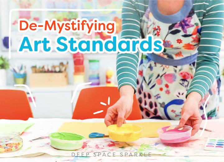 De-Mystifying art standards for art teachers in the art room with downloadble pdf to print