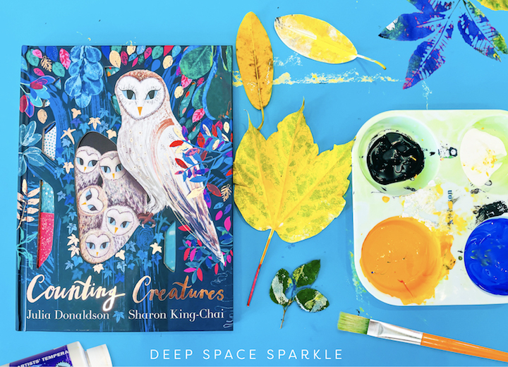 Counting creatures picture book great fall book to accompany our fall leaves art printmaking project for kids